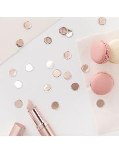 Confettis de table en carton rose gold