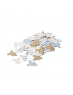 100 confettis body bleu ciel