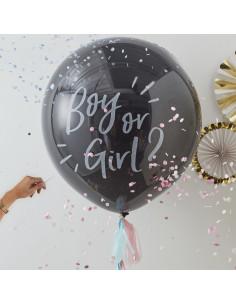 Kit Ballon annonce surprise fille ou garçon avec confettis