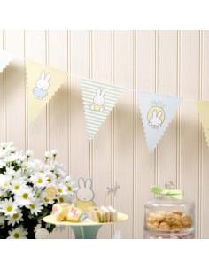 Guirlande fanions pour décoration anniversaire Miffy