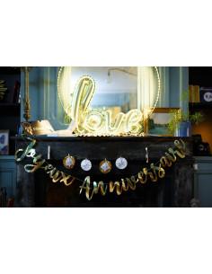 """Guirlande décorative dorée écriture """"Joyeux anniversaire"""""""