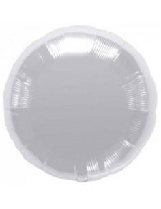 Ballon métallique rond argent brillant