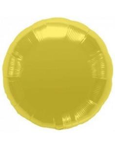 Ballon métallique rond doré brillant