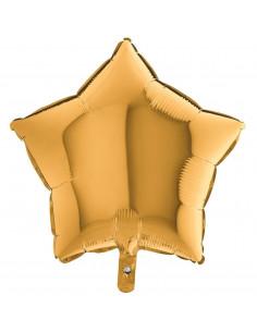 Ballon métallique étoile dorée brillante