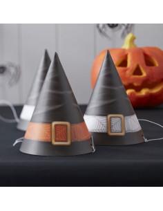 6 chapeaux de sorcières pour décoration fête Halloween