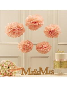 5-pompons-en-papier-de-soie-rose-pastel-deco-baby-shower-bapteme-anniversaire-mariage