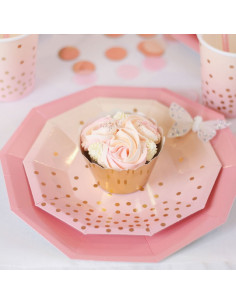 assiettes-degradees-rose-peche-pois-rose-gold-irisees-roses-deco-baby-shower-bapteme-anniversaire