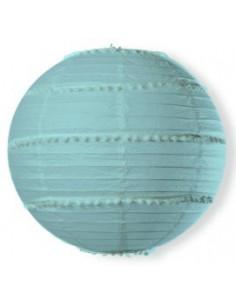 lampion-en-papier-bleu-ciel-avec-pompons-decoration-fetes