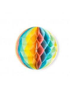3 boules alvéolées multicolores