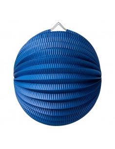 Lampion boule en papier bleu marine 20 cms