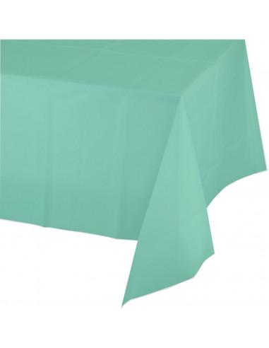 Nappe en plastique vert menthe 137cmsX174cms