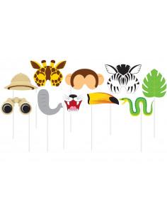 10-accessoires-photobooths-theme-animaux-de-la-jungle-savane-decoration-anniversaire