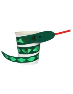 8 gobelets serpents thème Jungle meri meri