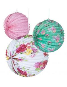 3-lampions-accordeon-papier-fleurs-pastels-decoration-baby-shower-bapteme-anniversaire-mariage