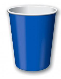 8 gobelets en carton bleu électrique