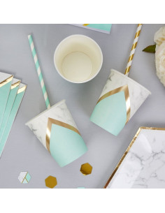 8 gobelets effet marbre