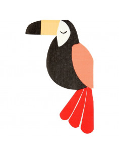 20 serviettes toucans thème Jungle meri meri
