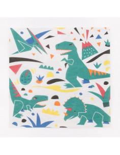 20 serviettes dinosaures my little day