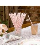 pailles-en-papier-rayures-rose-pastel-et-blanches-pailles-retros-deco-baby-shower-bapteme-anniversaire
