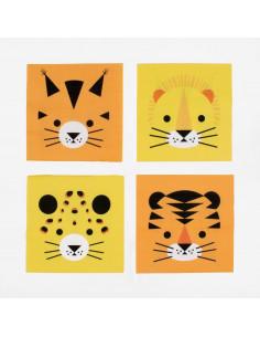 20 petites serviettes animaux de la jungle my little day
