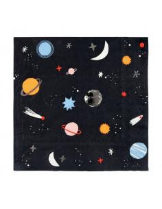 16 Grandes serviettes anniversaire espace meri meri