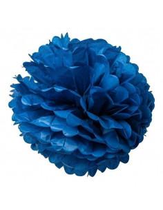 2 pompons en papier de soie bleu marine 50cms et 40cms
