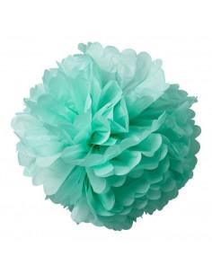2 pompons en papier de soie vert pastel 50cms et 40cms