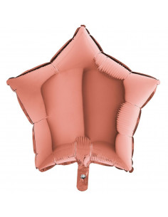 Ballon métallique étoile rose gold brillant