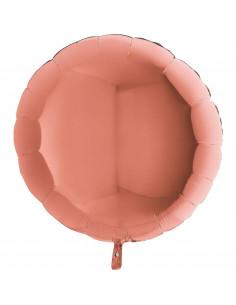 Ballon métallique rond rose gold