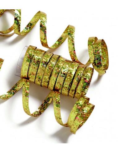 10 serpentins holographiques dorés