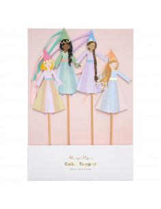 4-cake-toppers-princesses-magiques-meri-meri-decoration-anniversaire-theme-fee-princesse-licorne
