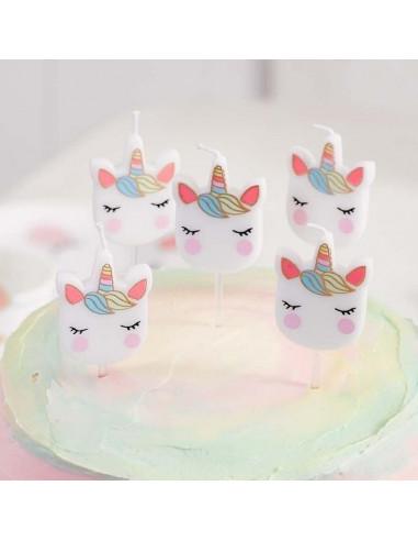 5-bougies-tetes-de-licorne-pastels-decoration-gateau-anniversaire