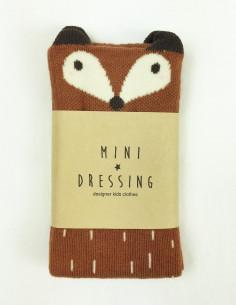 chaussettes Raton laveur marron mini dressing