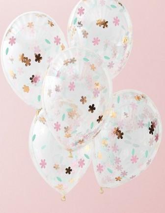 Ballons Baptême avec Confettis