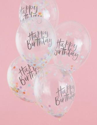 Ballons Confettis Anniversaire Enfant
