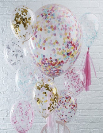 Ballons Confettis Anniversaire Adulte