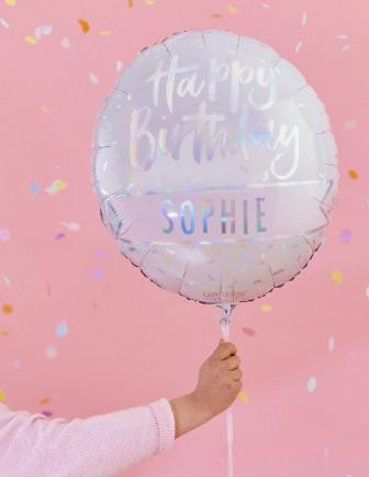 Ballons Métalliques Imprimés Anniversaire Adulte