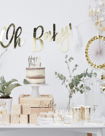 Baby Shower Blanc et Or
