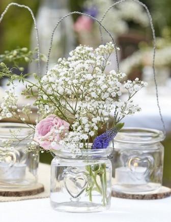 Centre de Table Baby Shower : Pots, Vases