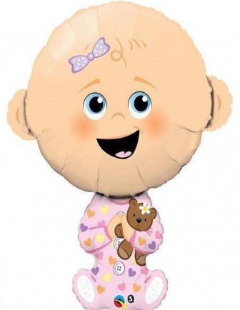 Ballons Baby Shower Métalliques Imprimés