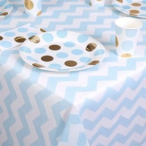 chemins-de-table-nappes-baby-shower-nappes-chevrons-bleus
