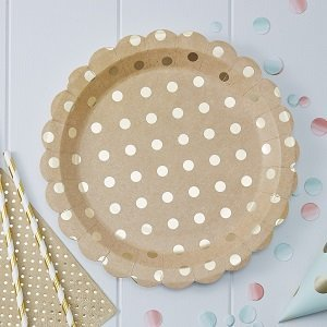 baby-shower-boheme-assiettes-kraft-et-or