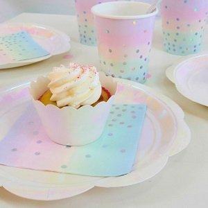 baby-shower-licorne-vaisselle-jetable-irisee