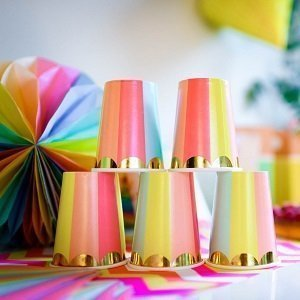 baby-shower-multicolore-gobelets