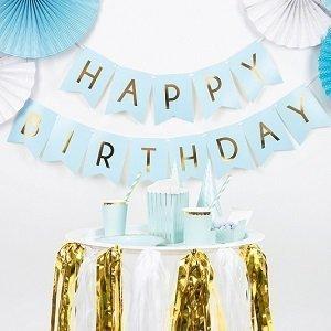 anniversaire-1-an-bleu-ciel-et-or-guirlande-happy-birthday-bleu-et-or