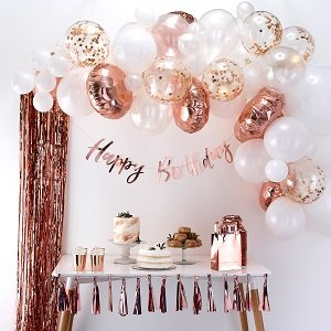 anniversaire-1-an-rose-gold-arche-ballon-rose-gold