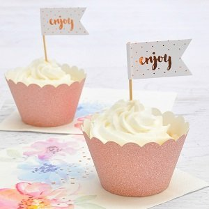anniversaire-adulte-theme-fleurs-pastels-cake-toppers-rose-gold