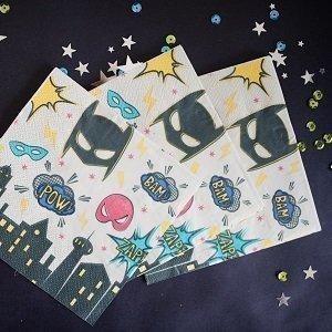 anniversaire-adulte-theme-super-heros-serviettes