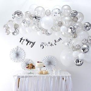 anniversaire-adulte-theme-star-wars-arche-ballon-argent