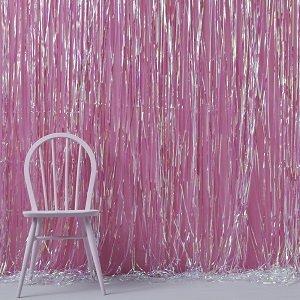 anniversaire-adulte-theme-disco-rideau-fil